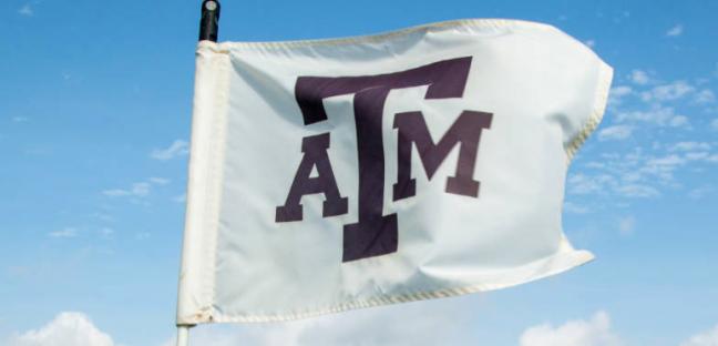 A&M golf flag